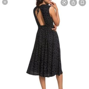 Roxy Midi polka dot dress